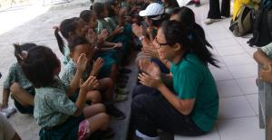 Bali Coral reef rebuilding- Teaching