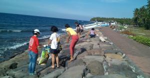 Bali Coral reef rebuilding-coastal clean up